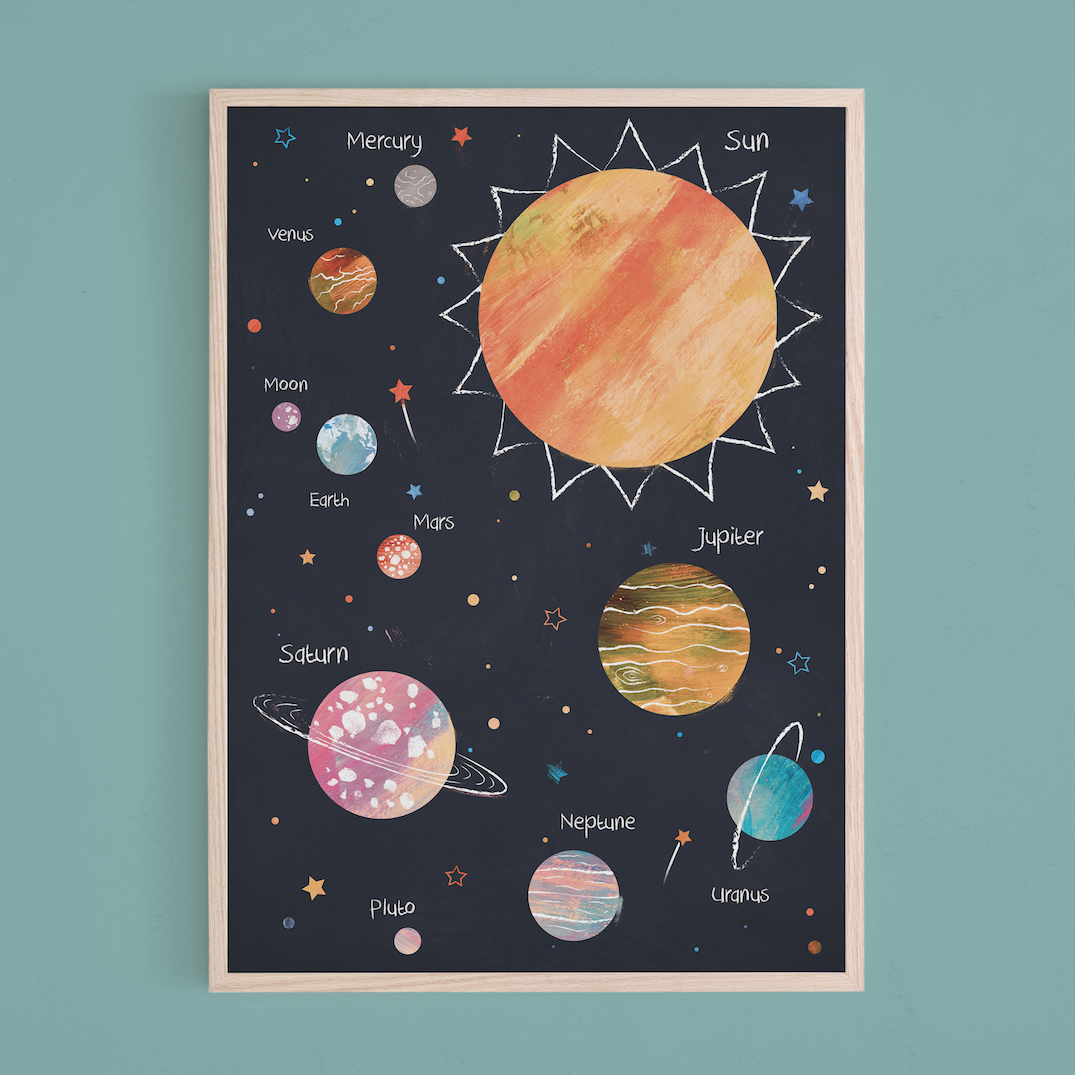 Pineberry Prints Space Solar System